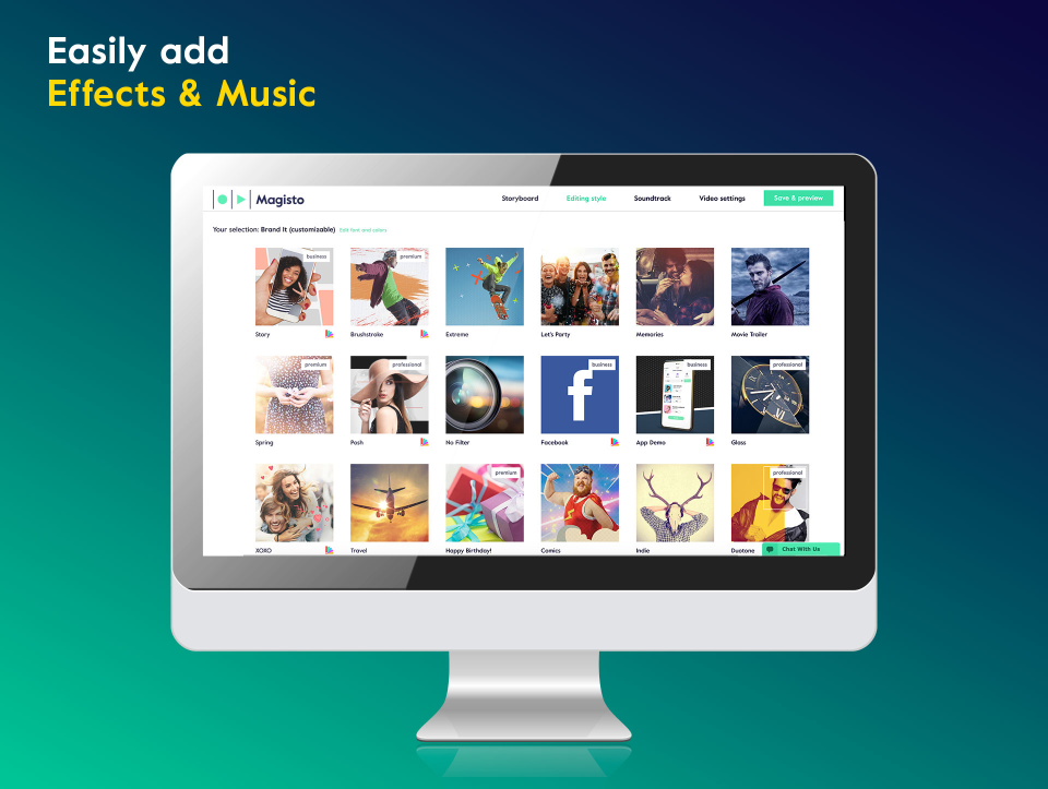 Music and soundtrack templates