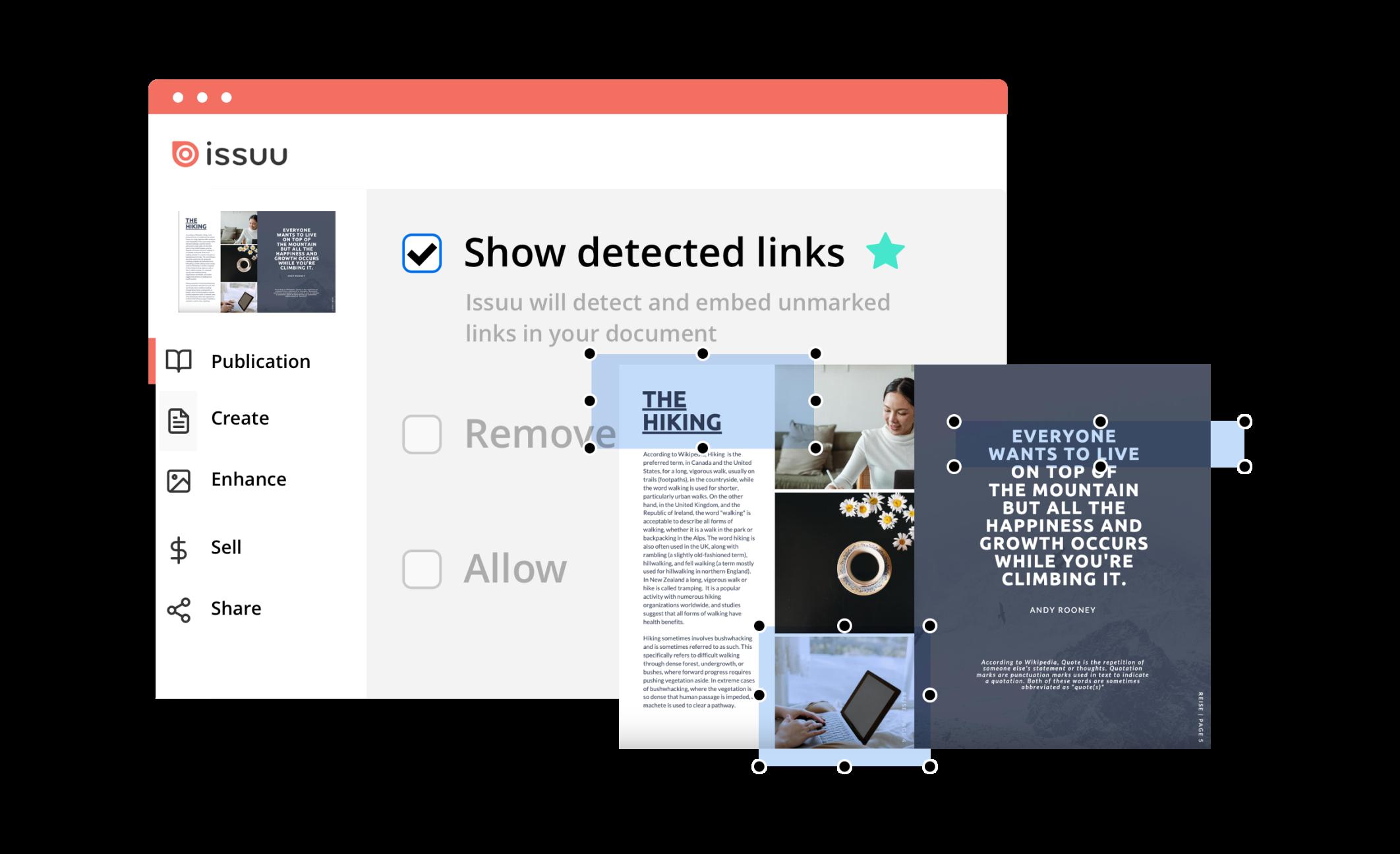SEO detected links