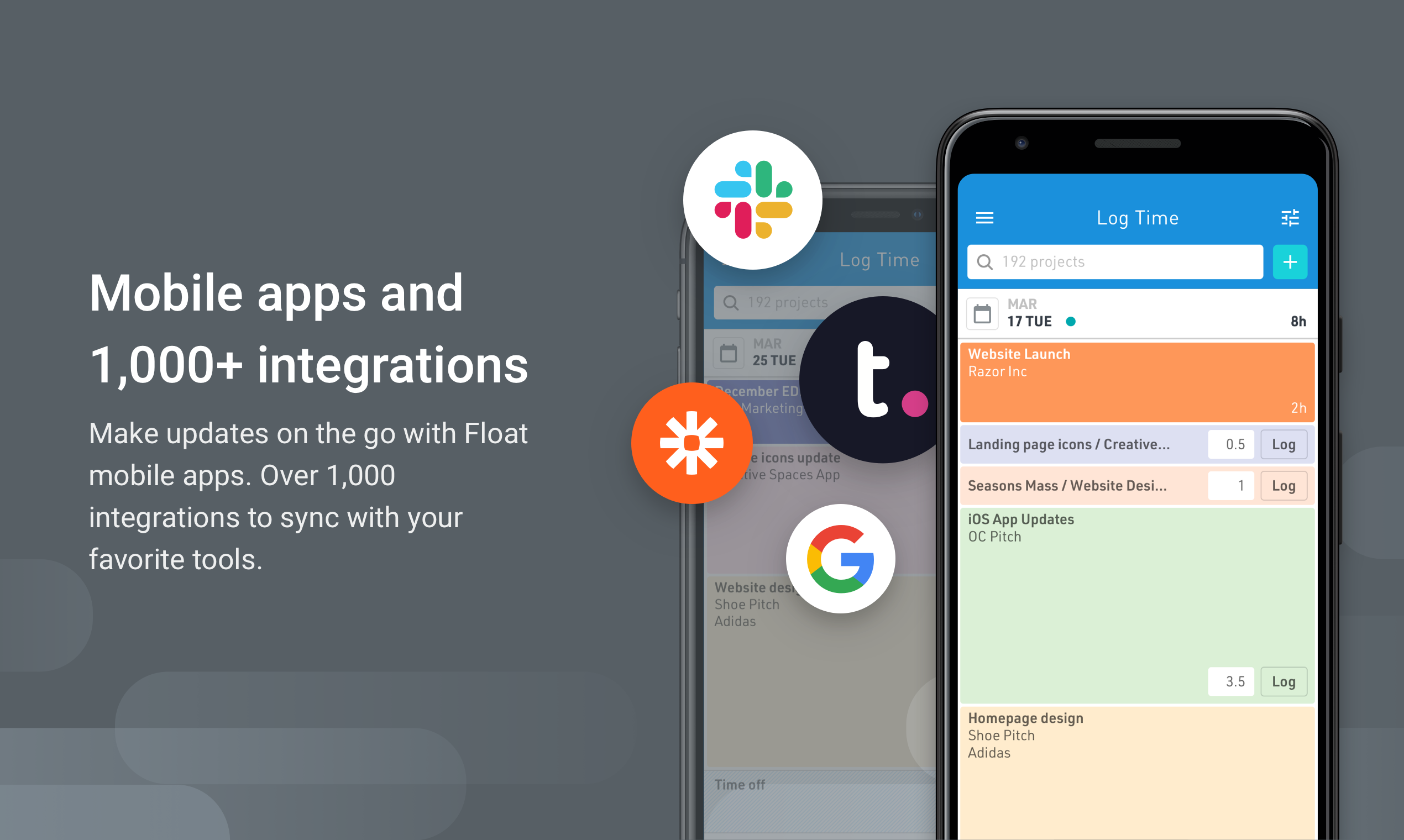 With apps for iOS & Android, you can update your schedule any time, on the go. Integrate with Slack, Google Calendar, Outlook & 1,000+ apps via Zapier to streamline your workflow.
