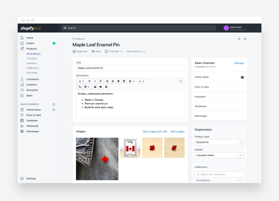 Update products, content, and pricing using the easy-to-navigate CMS
