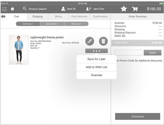 Salesforce B2C Commerce shopping cart
