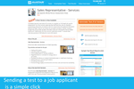 HR Avatar screenshot: View detailed test information including a sample test report, and send the test to a job applicant with a simple click.