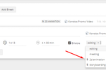 TMetric screenshot: When you track your work time you treat work types as tags.