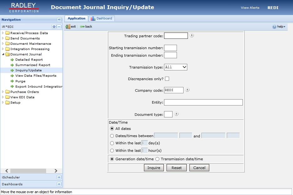 iR*EDI document journal