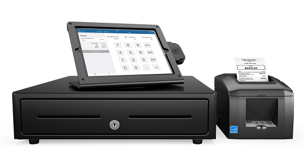Zaui Software integrates with hardware including credit card readers, Bluetooth cash drawers, and ticket and receipt printers