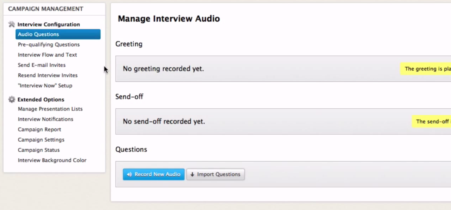 HarQen Software - Manage interview audio