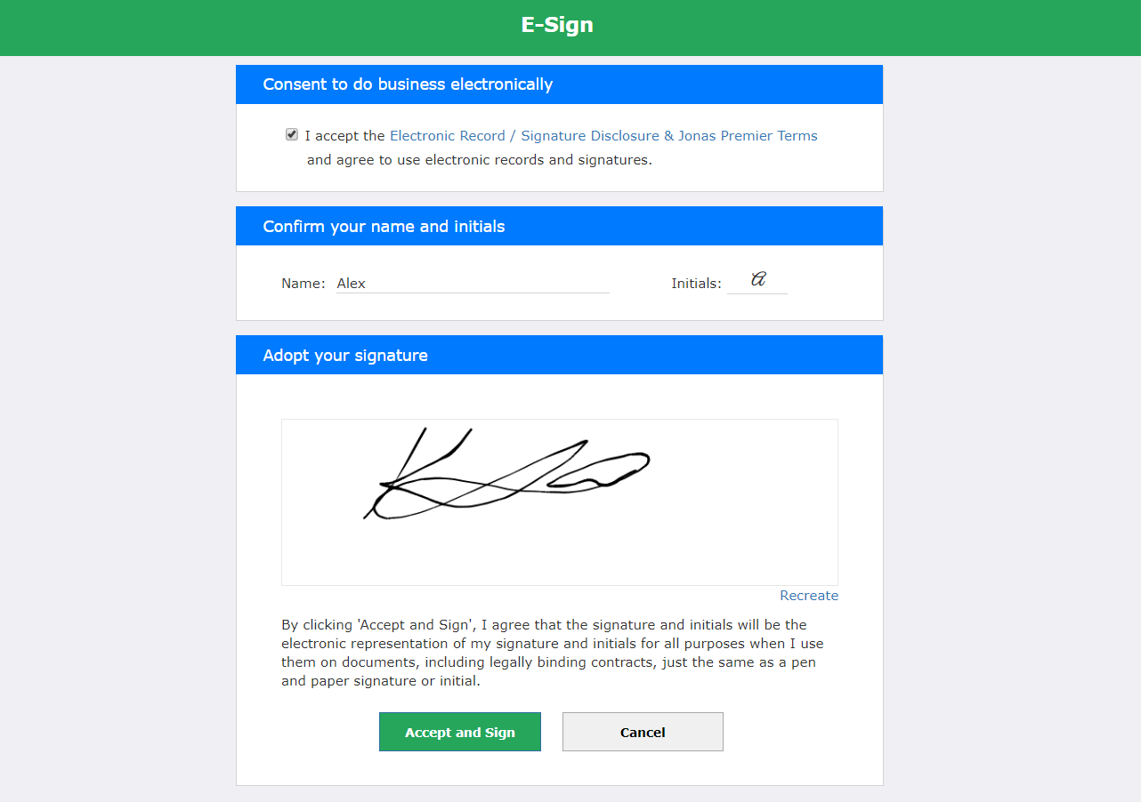 Electronic Signatures for subcontract agreements