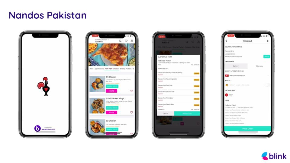 Nandos Pakistan - Mobile App powered by Blink