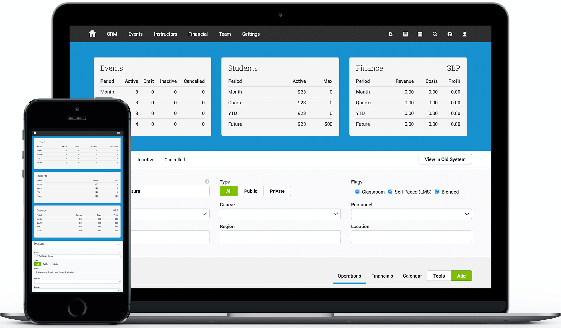Easily manage training events with the mobile-friendly Events Management System