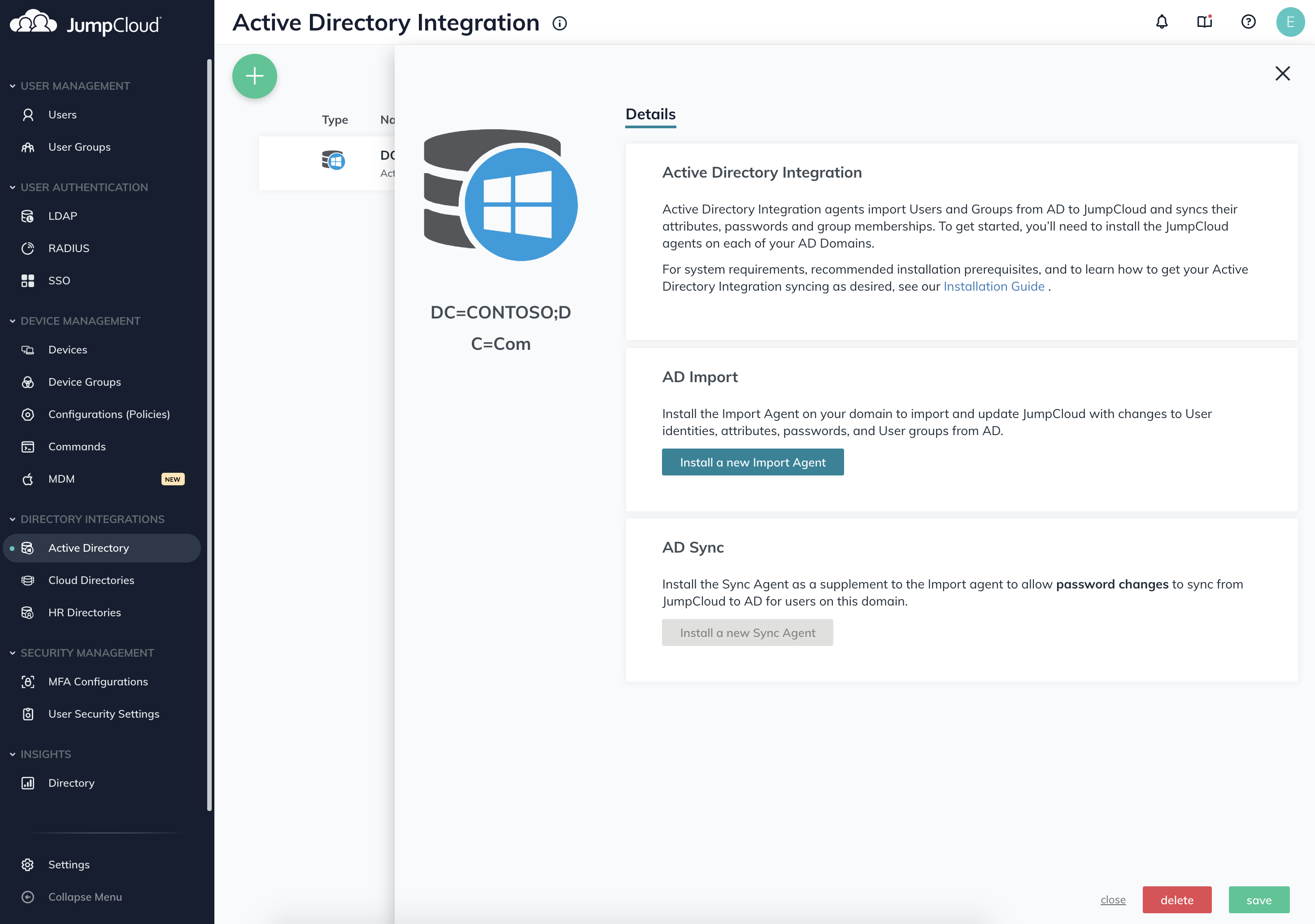 JumpCloud Directory-as-a-Service Azure Active Directory integration