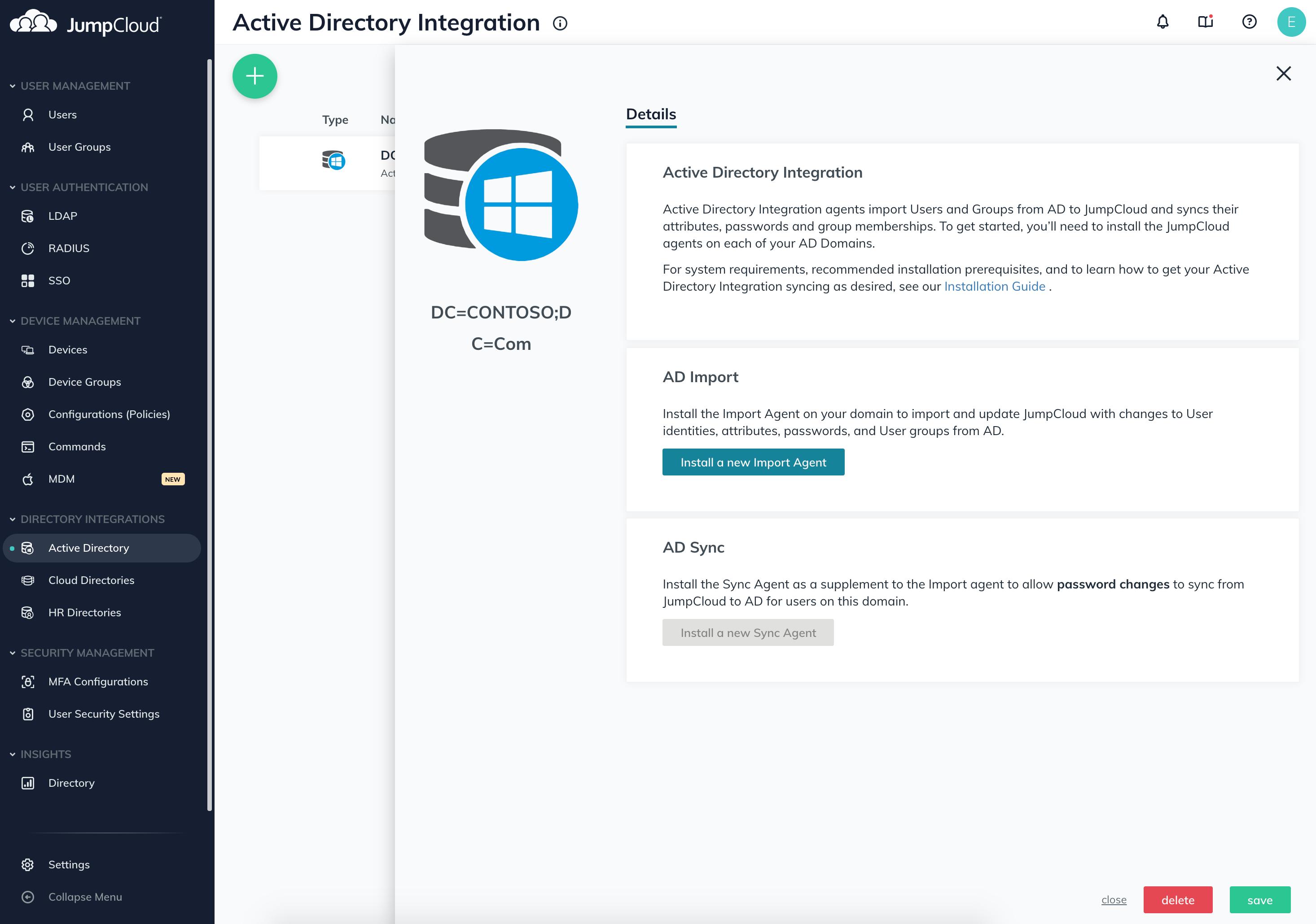 JumpCloud Directory Platform Software - JumpCloud Directory-as-a-Service Azure Active Directory integration