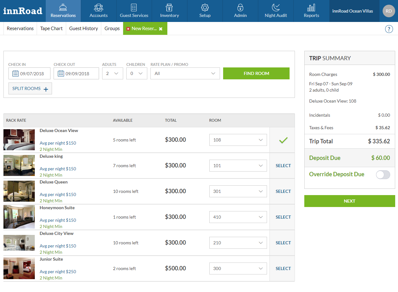 innRoad Software - Reservations