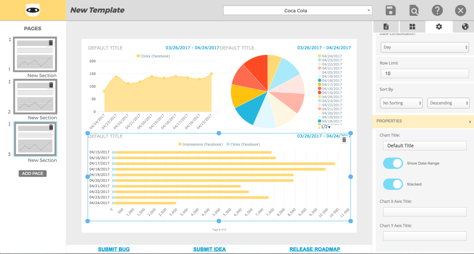 White label reports can be generated from templates and customized as needed