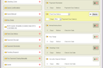 Bookerville Screenshot: Automated, customizable email templates, scheduled to be sent to whom, and whenever you choose.