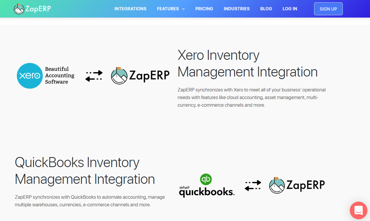 ZapERP Accounting Integrations