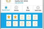 Loyalty Reward Stamp screenshot: Branded mobile punch card apps replace paper punch cards