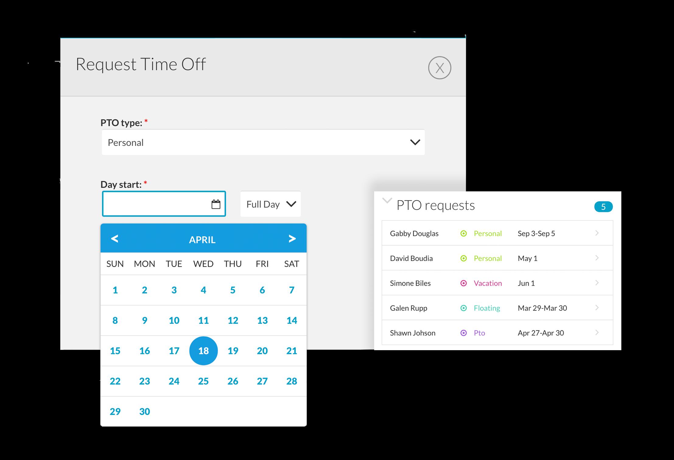 BerniePortal Software - PTO tracking