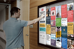 HootBoard screenshot: Engage employees, visitors or students by sharing events, announcements, questions, videos, documents and more via a touch kiosk