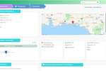 PropertyZar screenshot: Property summaries are provided for each location with information on the location, rent, property type, work orders, and more