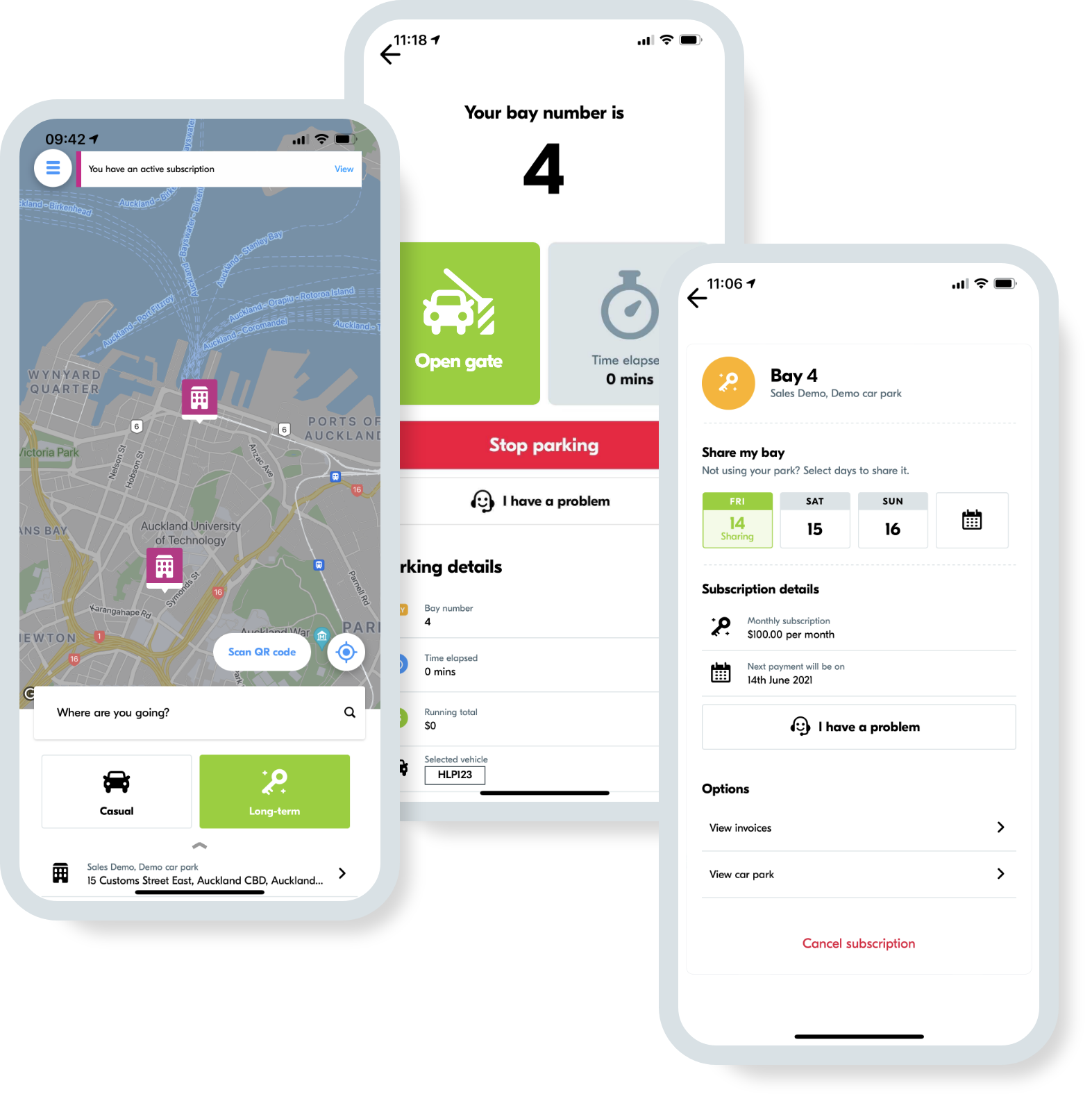 Staff and tenants can easily park, reserve a bay in advance, share their bay with colleagues, open access gates, and start EV charging sessions using the app.