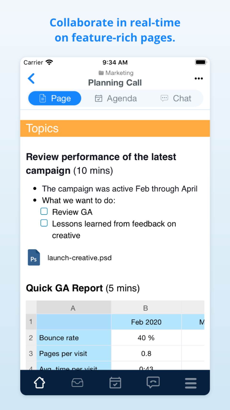 Work on pages on mobile