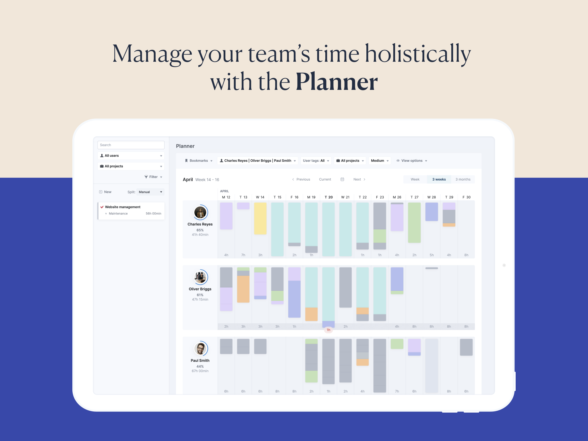 Drag-and-drop Planner