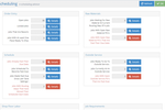 E2 Shop System screenshot: The scheduling advisor helps users to hit deadlines by providing a breakdown of any tasks that are overdue or behind schedule