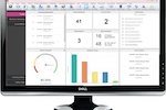 Salon Iris screenshot: The dashboard, complete with a productivity meter, top booked services, and more