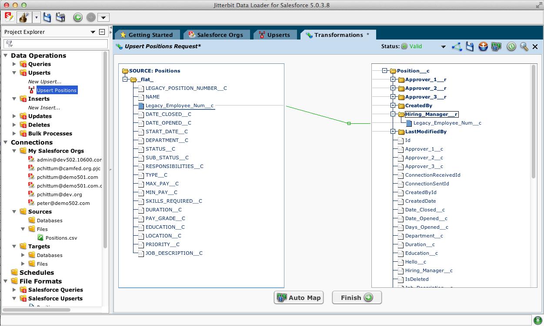 Jitterbit screenshot: Jitterbit for Salesforce