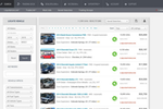 DealersLink screenshot: Search functionality allows users to locate vehicles by model, year of manufacture, state, dealer, etc.