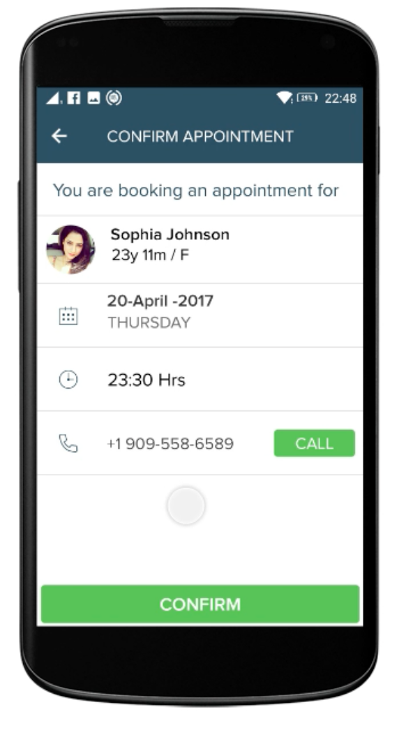 hCue Pharmacy Software Software - Patients can make appointments with doctors via mobile