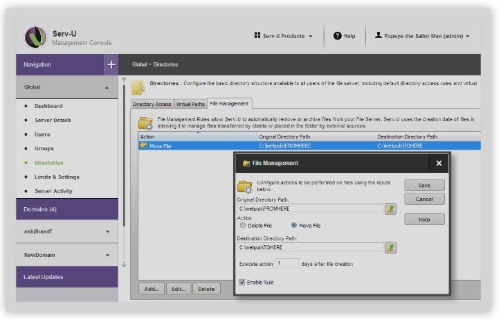 Serv-U FTP Server Software - Automate file management