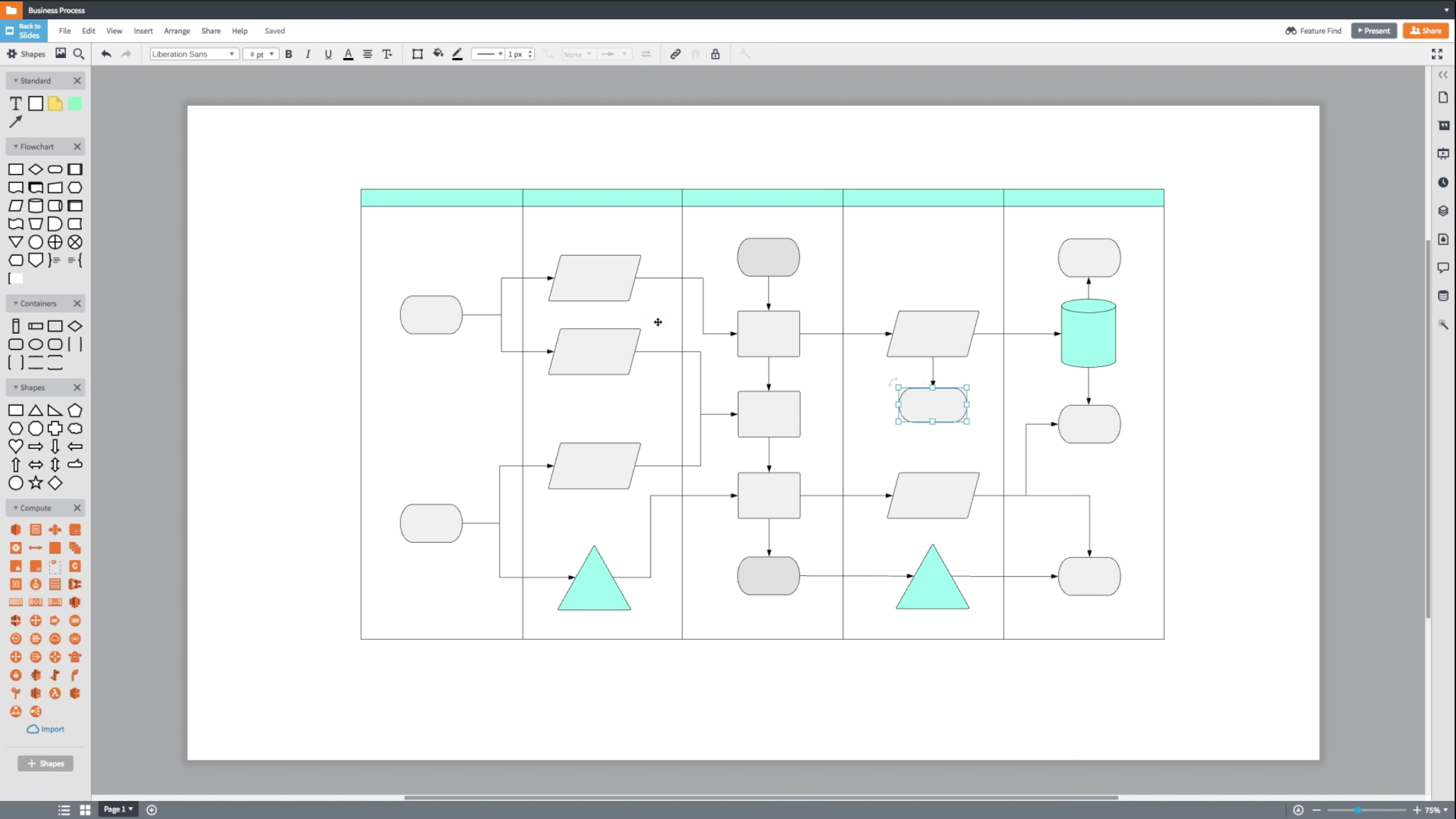 Access the editor for hundreds of shape libraries and advanced automated features