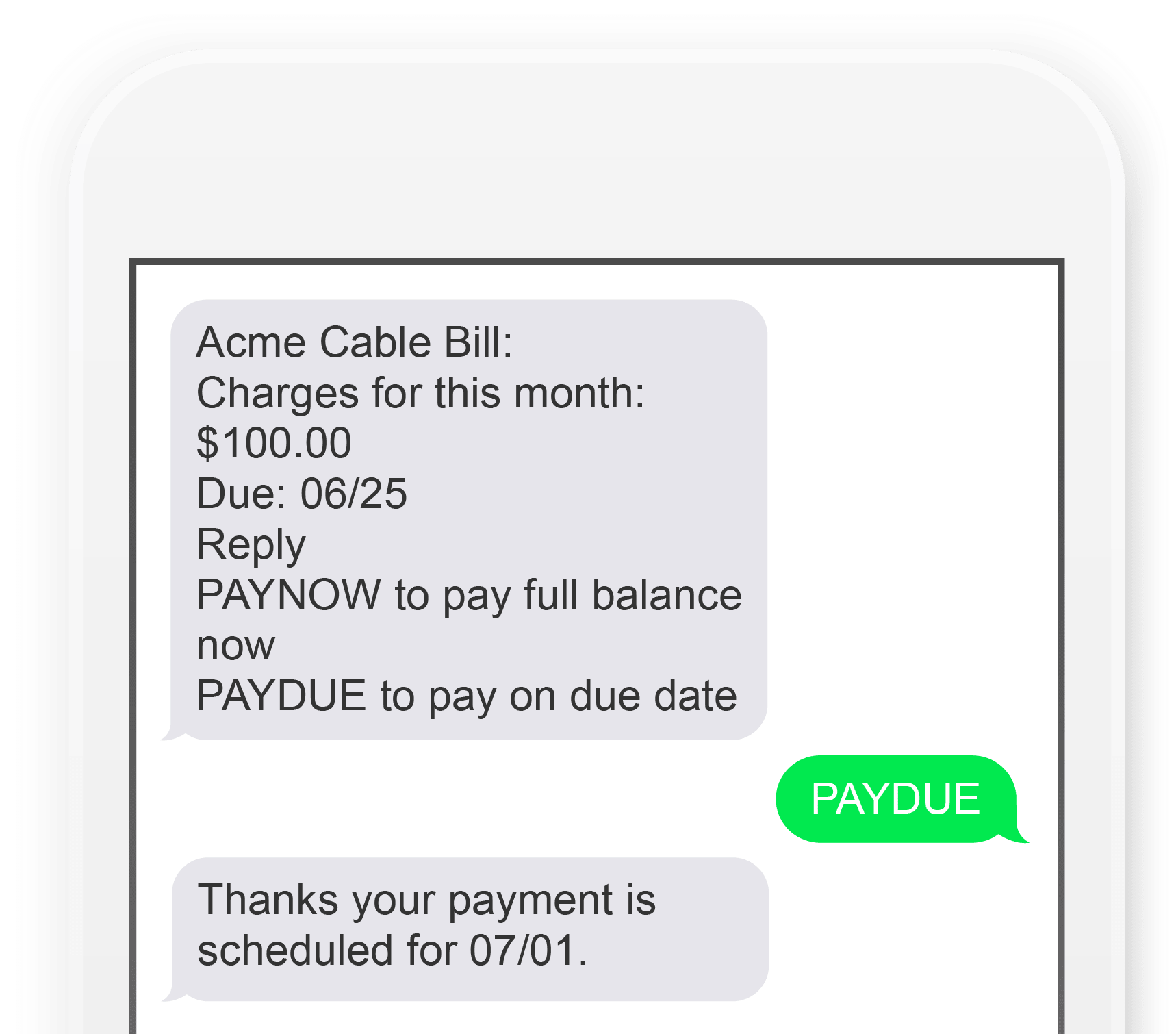 SMS Notify! screenshot: SMS Notify! billing reminder