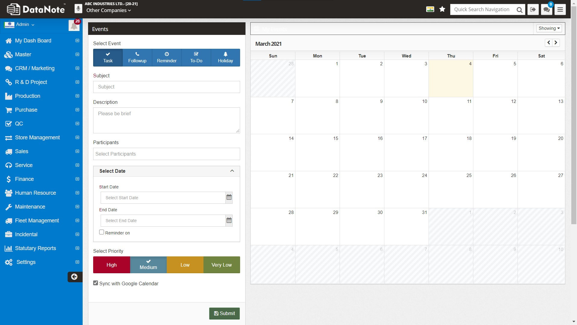 Integrated Task Management, Reminders & Many More