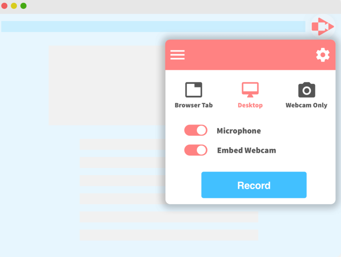 Screencastify screenshot: Screencastify record desktop