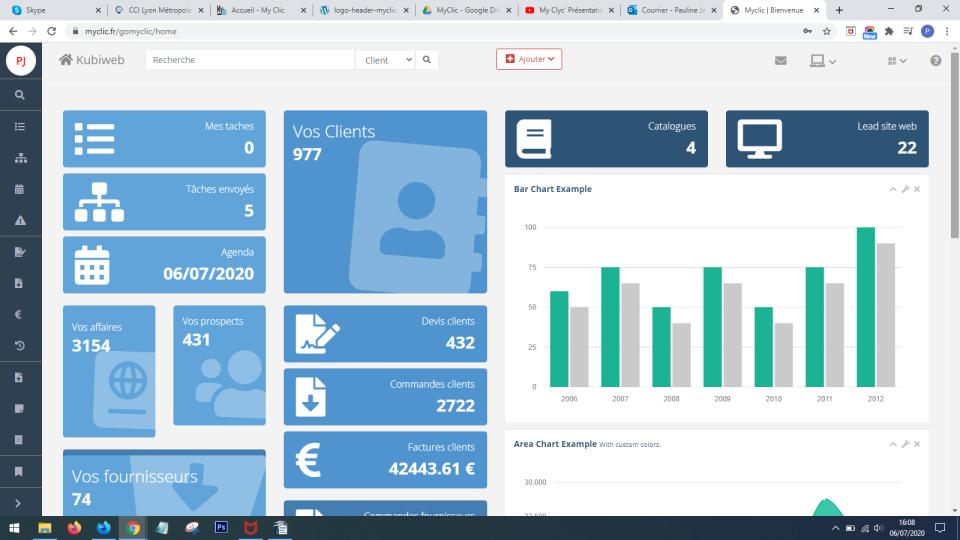 MyClic dashboard