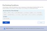 Capture d'écran pour FeverIQ : FeverIQ pre-existing condition screening
