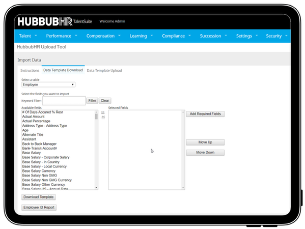 HubbubHR data import