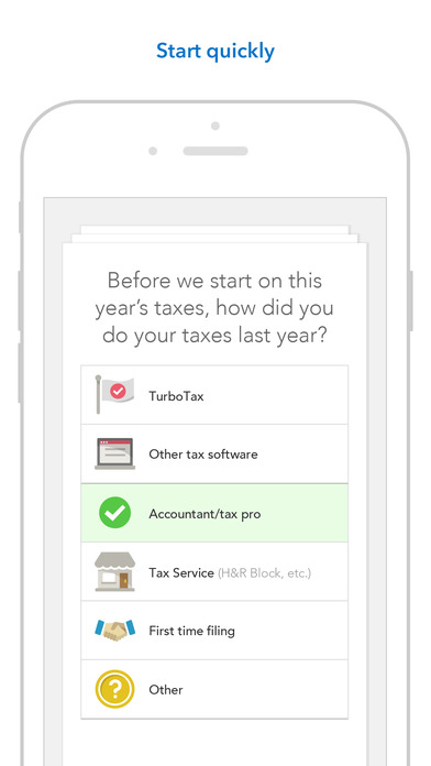 TurboTax asks questions in order to help users fill in all the right tax forms