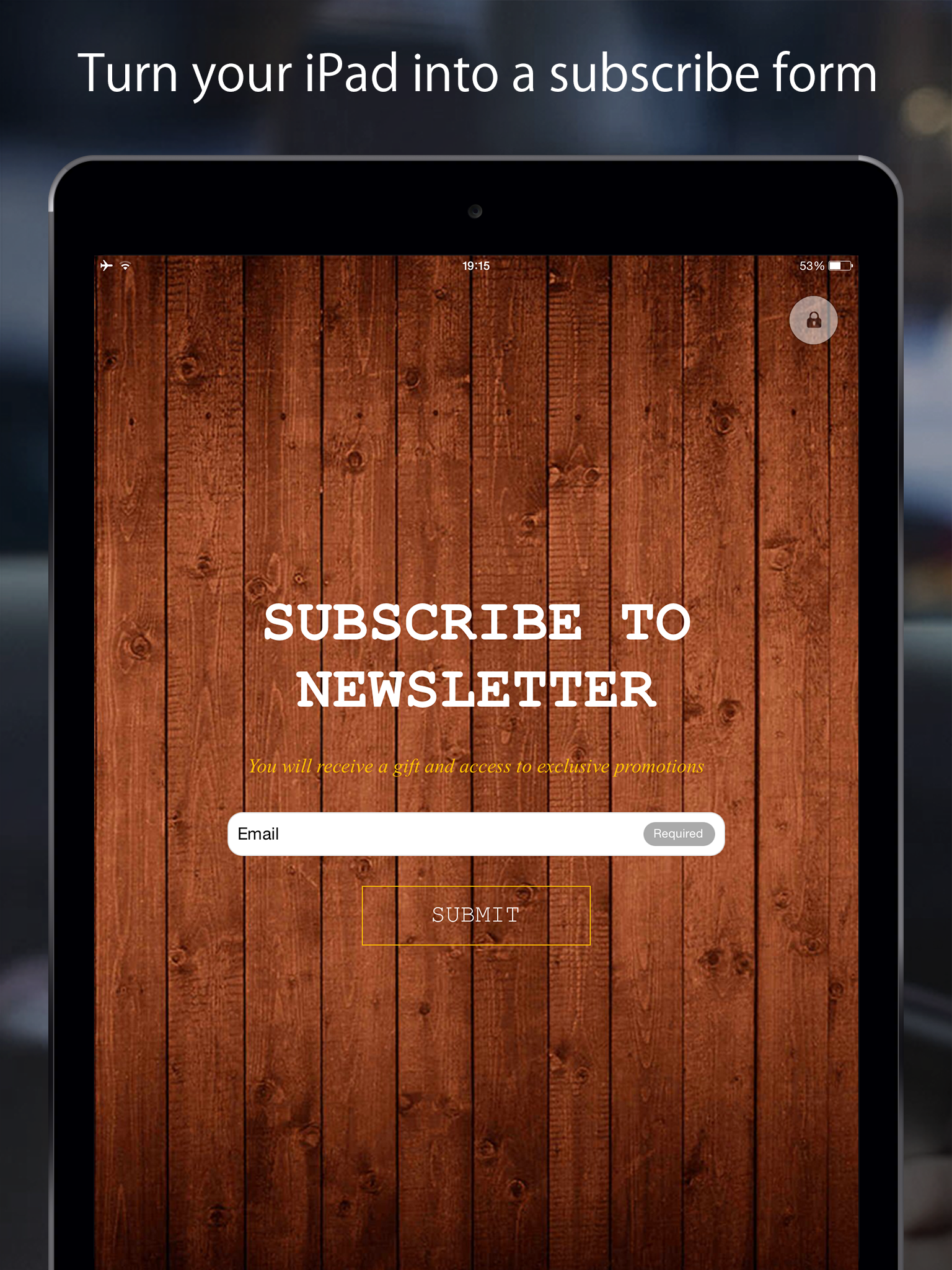 FreshForm is an app for iOS and Android for collecting email addresses