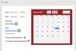 Convergence LMS screenshot: Schedule sessions and take attendance for classroom training