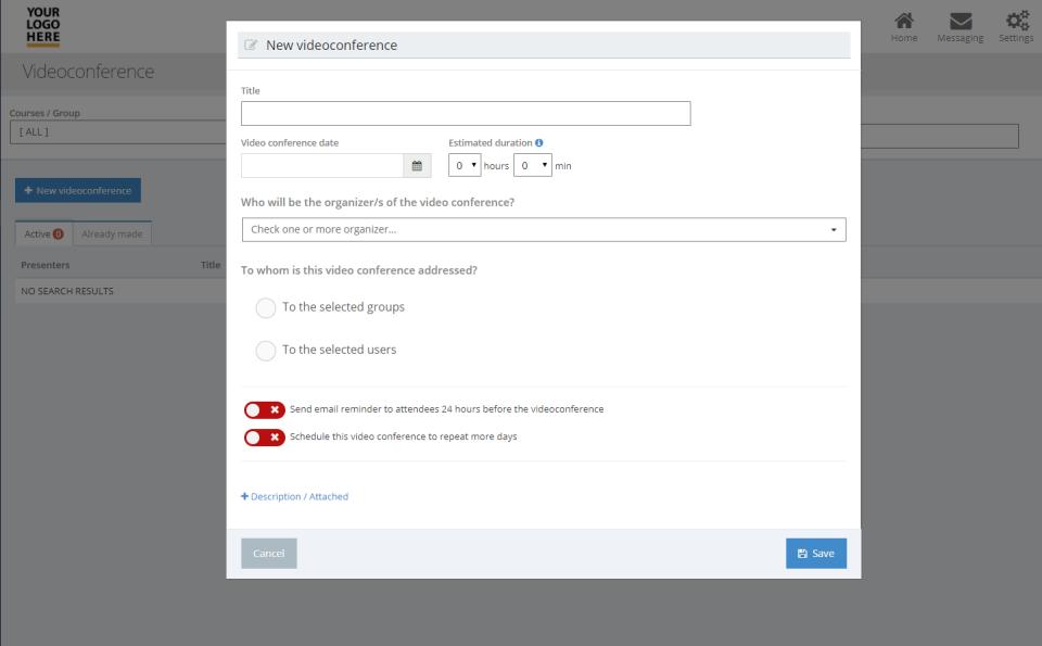 evolCampus videoconference platform integration