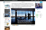 Knovio screenshot: Recording a video presentation on Knovio Web
