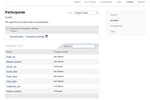 Firmwater LMS screenshot: Easy tracking of participation.
