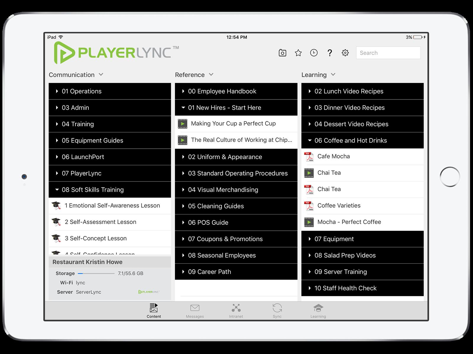 PlayerLync Software - Mobile Dashboard