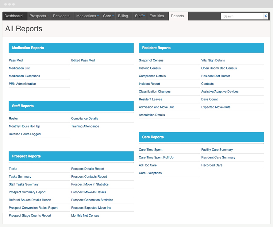 Users can drill-down into specific areas for more detail by using ALIS's pre-configured reports