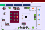 Menumiz screenshot: Floor layouts can be customized to suit the restaurant