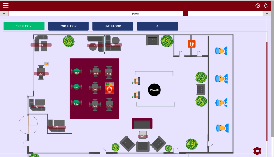 Floor layouts can be customized to suit the restaurant