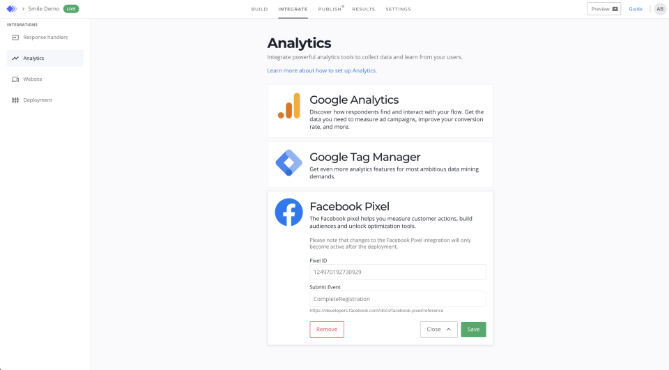 Niro screenshot: Niro analytics